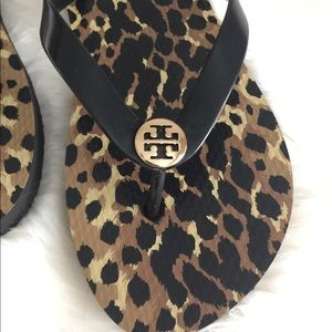 Tory Burch Shoes - {Tory Burch} Leopard Flip-flops